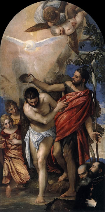 Baptism of Christ (1561), by Paolo Veronese in the church of Il Redentore, Venice
