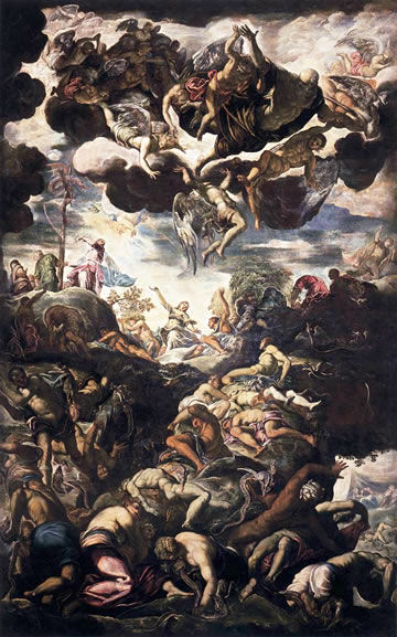 The Serpent of Bronze by Tintoretto in the Scuola Grande di San Rocco in Venice.