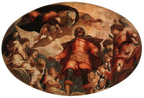 The Glory of San Rocco by Tintoretto in the Scuola Grande di San Rocco in Venice.