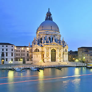 The church of Santa Maria della Salute in Venice