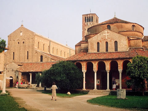 The main square of Torcello.