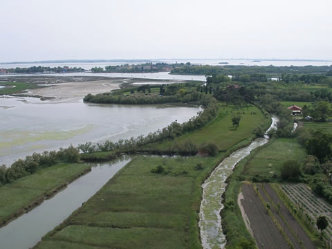 A view of sleepy Torcello from atop the campanile.