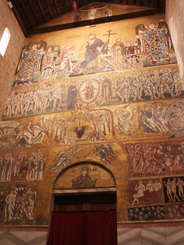 The mosaics inside the cathedral on Torcello.